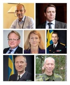 Några av talarna på Försvarsföretagsdagarna 2017